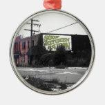 Calles destruidas de Detroit en el centro de la ci Ornamente De Reyes