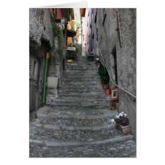 Calles estrechas de Bellagio Tarjetón