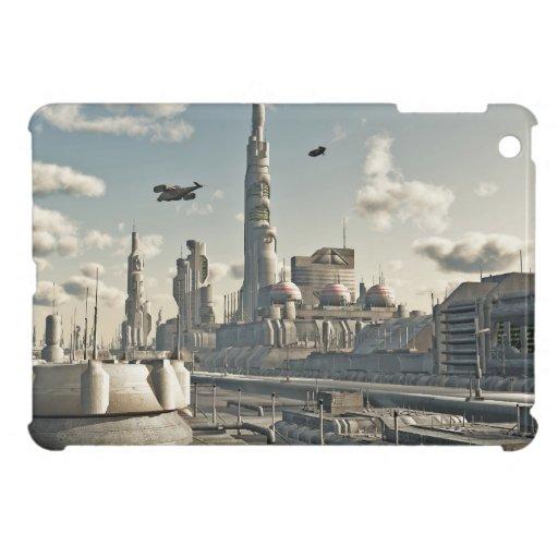Calles futuras de la ciudad iPad mini cárcasa