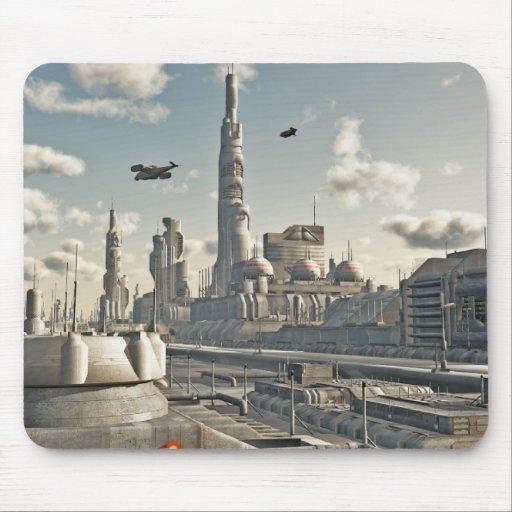 Calles futuras de la ciudad mouse pads