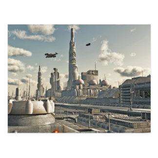 Calles futuras de la ciudad tarjeta postal