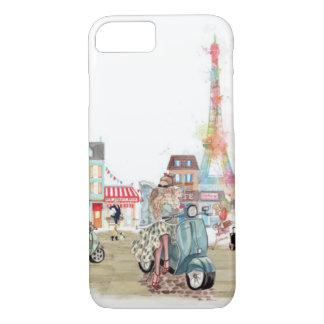Calles lindas del collage de París Funda iPhone 7