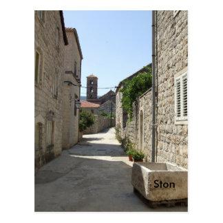 Calles medievales de Ston - Croacia Postales