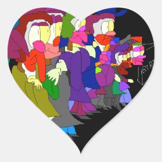 Calles Pegatina En Forma De Corazón