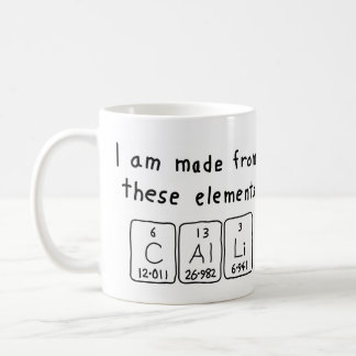 Calli periodic table name mug