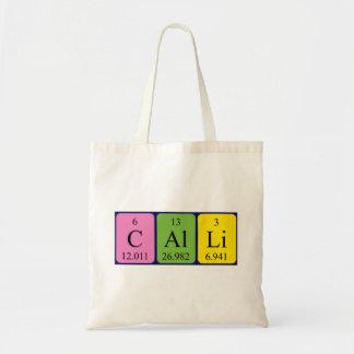Calli periodic table name tote bag