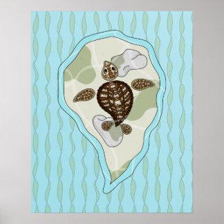 Callie el poster de la tortuga de mar