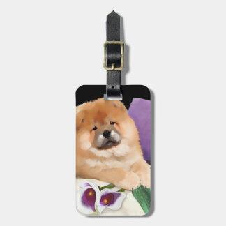 CALLIE heARTdog chow luggage tag