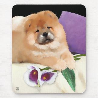 CALLIE heARTdog chow mousepad