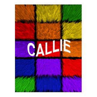 CALLIE POSTCARD