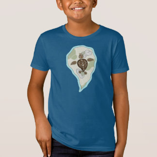 Callie the Sea Turtle Kid's and Baby Dark Shirt