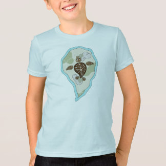 Callie the Sea Turtle Kid's and Baby Light Shirt
