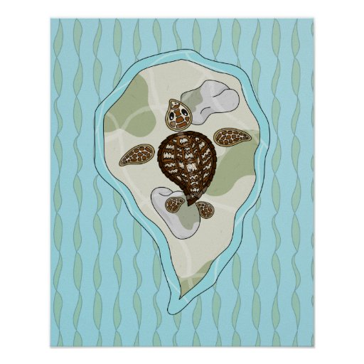 Callie the Sea Turtle Poster