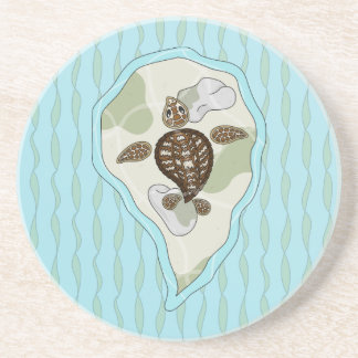 Callie the Sea Turtle Sandstone Coaster