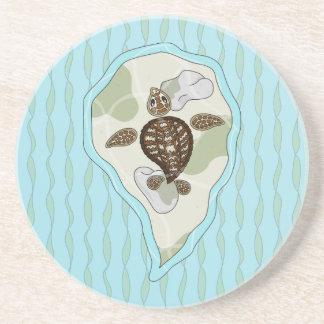 Callie the Sea Turtle Sandstone Coaster