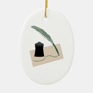 Calligrapher Instruments Christmas Tree Ornament