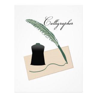 Calligrapher Customized Letterhead