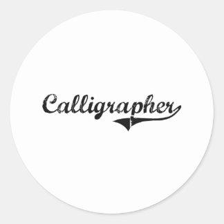 Calligrapher Professional Job Stickers