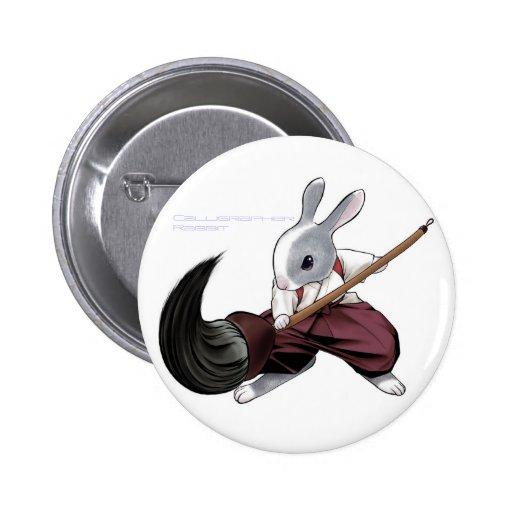 Calligrapher Rabbit -Button- バッジ