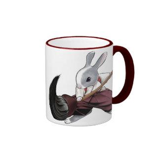 Calligrapher Rabbit - Mug- Ringer Coffee Mug