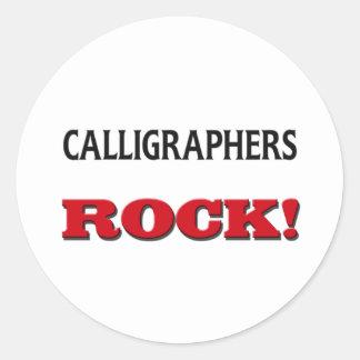 Calligraphers Rock Round Sticker