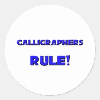 Calligraphers Rule! Sticker