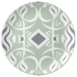 Calligraphic Dinnerplate in Mint Plate