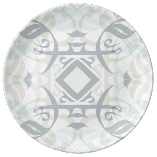 Calligraphic Dinnerplate in Pastel Plate