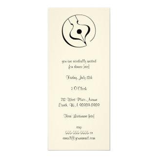 Calligraphic Fountain Pen 4x9.25 Paper Invitation Card
