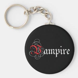 Calligraphic  Vampire Basic Round Button Keychain