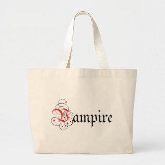 Calligraphic  Vampire Large Tote Bag