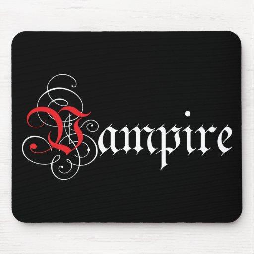 Calligraphic  Vampire Mouse Pad