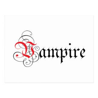 Calligraphic  Vampire Post Card