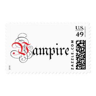 Calligraphic  Vampire Stamp