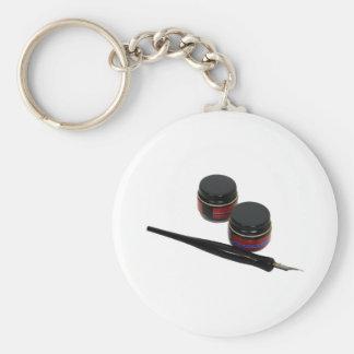 Calligraphy041809 Basic Round Button Keychain