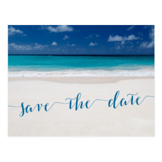 Beach Theme Save The Date Postcards | Zazzle