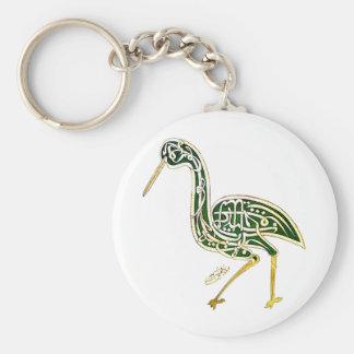 Calligraphy Bird (Stork) Keychain