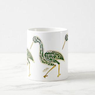 Calligraphy Bird (Stork) Classic White Coffee Mug