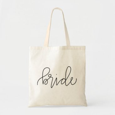 Bride Themed Calligraphy Bride Tote Bag