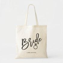Calligraphy Bride Tote Bag