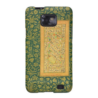 Calligraphy by Mir Ali of Herat, with a Mughal bor Samsung Galaxy SII Cover
