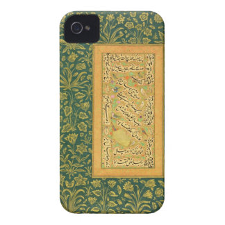Calligraphy by Mir Ali of Herat, with a Mughal bor iPhone 4 Cases