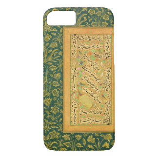 Calligraphy by Mir Ali of Herat, with a Mughal bor iPhone 7 Case