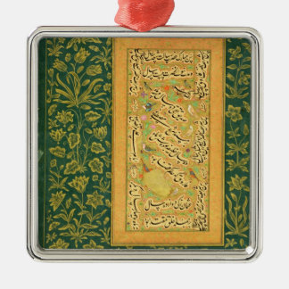 Calligraphy by Mir Ali of Herat, with a Mughal bor Metal Ornament
