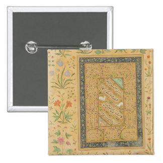 Calligraphy by the Iranian master Ali al-Mashhadi 2 Inch Square Button