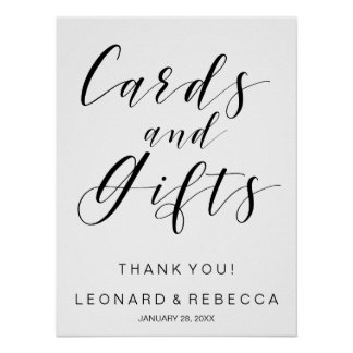 Calligraphy Cards and Gifts sign black and white