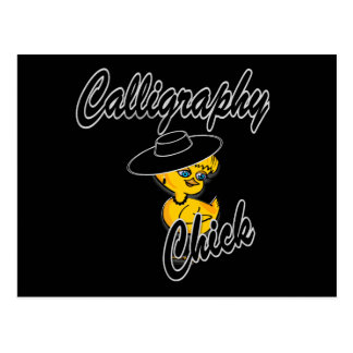 Calligraphy Chick #4 Postcard
