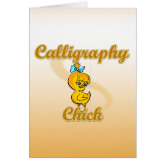 Calligraphy Chick Card