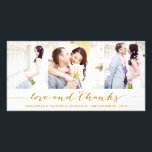 """CALLIGRAPHY COLLAGE   WEDDING THANK YOU PHOTO CARD<br><div class=""""desc"""">OTHER COLORS AVAILABLE IN OUR SHOP!</div>"""