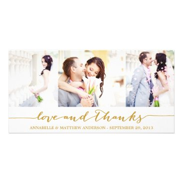 FINEandDANDY CALLIGRAPHY COLLAGE | WEDDING THANK YOU PHOTO CARD